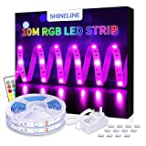 LED Strips Lights, 10M SHINELINE 2x5M Led Strip 300 LEDs SMD 5050 RGB Rope Light Strip Kit with Remote Color Changing LED Lighting Strip for Garden Bar Party Home Decorations [Energy Class A+]