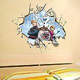 Clest F & H Frozen Queen Elsa ZY1421Sticker mural à l'effigie des personnages de la Reine des neiges