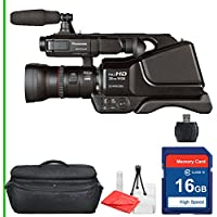 Panasonic AG-AC8PJ AVCCAM Camcorder 16GB SD Class 10 Memory Card, Professional Camcorder Case, Memory reader, Table Top Tripod, Lens Cleaning Kit and Screen Protector