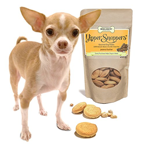 Hypoallergenic Dog Treats Made in USA, Grain Free, 100% All Natural Yummy Yipper Snappers Peanut Butter Gourmet Dog Treats, Biscuits Help Reduce Allergies and Cleans Teeth