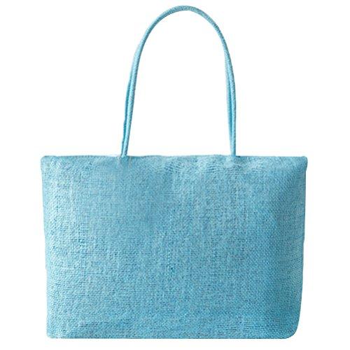 Abuyall femmes raphia sac de paille solide armure ¨¦t¨¦ plage occasionnels grand sac ¨¤ main ¨¦paule ensemble/unique Pt12