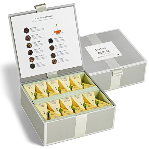 Tea Forté Tea Chests with 40 Handcrafted Pyramid Tea Infusers