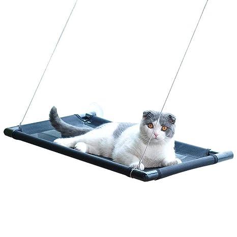 JLFAIRY Camas para Ventanas con Ventosa 66 * 40 Cm Gato Perrera Hamaca Tipo Lechón Gato