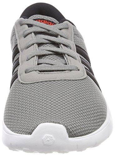 adidas Unisex-Kinder Lite Racer K Gymnastikschuhe Grau  Mehrfarbig (Grey Three F17/Core Black/Core Red S17)