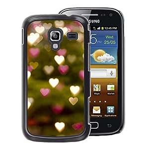 A-type Arte & diseño plástico duro Fundas Cover Cubre Hard Case Cover para Samsung Galaxy Ace 2 (Tree Lights Hearts Green Blurry)
