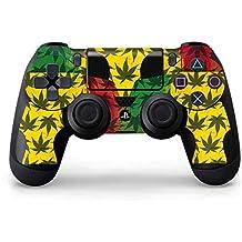 Rasta PS4 Controller Skin - Marijuana Rasta Pattern | Skinit Lifestyle Skin