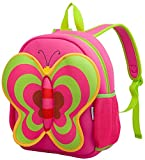 Nohoo Nursery Kids Girls Backpacks for school Toddler- Cute Butterfly Bag Red(13*10.3*4.8 inch) - Best Gift For 3-8 years old