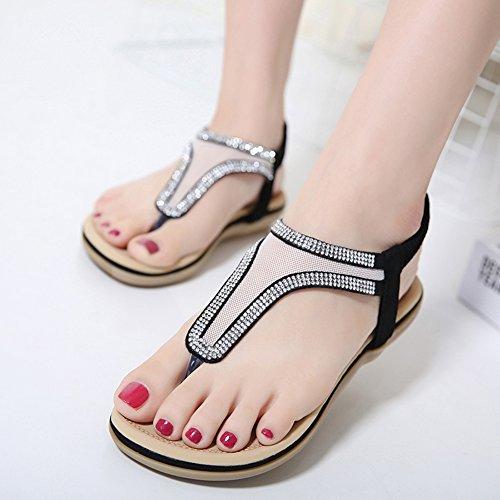 Insun - Zapatos de tacón  mujer negro