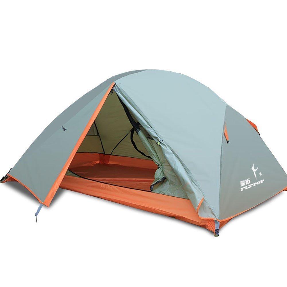 Flytopアウトドア2人防水テントPerfect forカヤックトレッキング二層テントRidingハイキングキャンプテント軽量バックパッキング – Easy Set Up   B075D84GZS