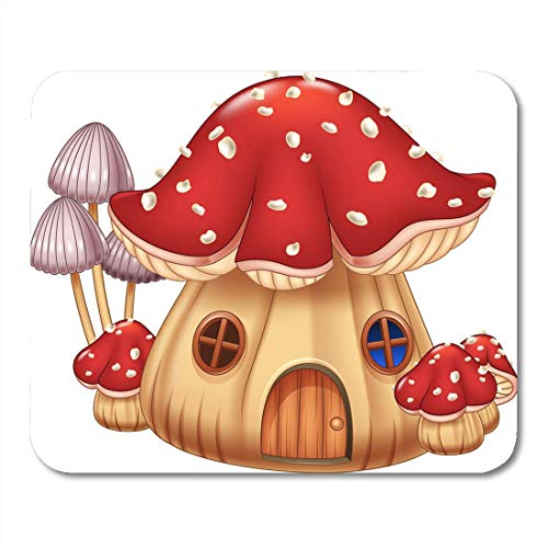 Mouse Pads Cottage Funny Mushroom House Toadstool Beautiful Building Cartoon Childlike Mouse Pad for notebooks, Desktop Computers mats Office Supplies
