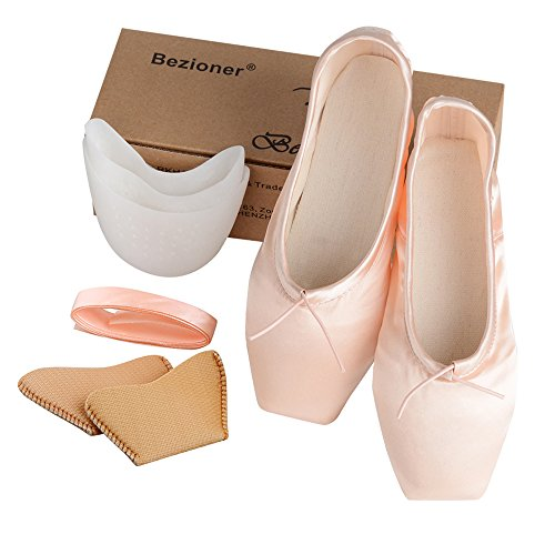 36270b57a Jual KUKOME-SHOP Girls Womens Dance Shoe Pink Satin Ballet Pointe ...