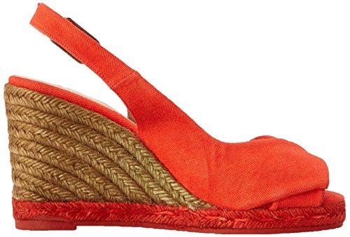 Espadrille de Rojo Sandalias Castaña cuña Brianda Mandarina 7gqWIS4
