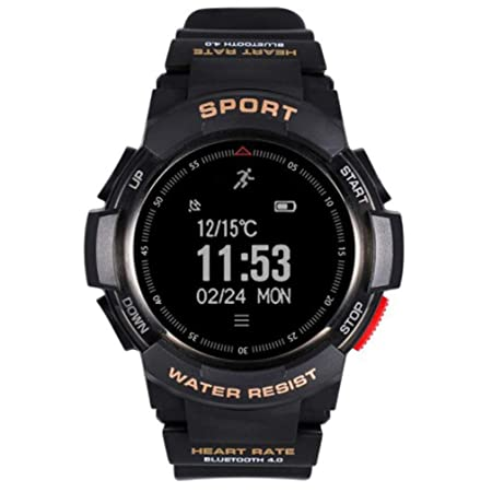Yogasada F6 Dial Redondo Smartwatch Impermeable Monitor de Ritmo ...