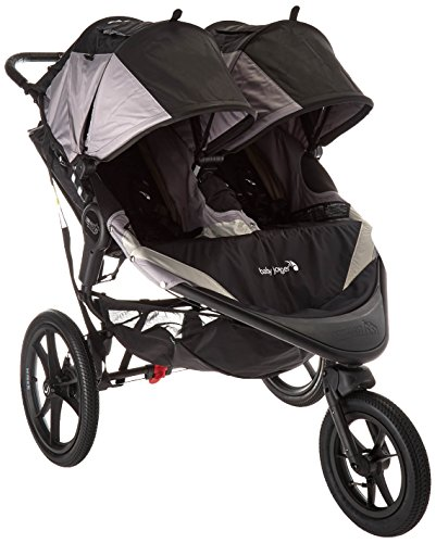 (Baby Jogger 2016 Summit X3 Double Jogging Stroller - Black/Gray)
