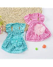 Qiyun Pet Supplies, Cute Lace Princess Dress Pet Clothes Spring Small Dog Skirt