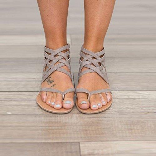 Dita Scarpe Sandali Codice gray donna Roma Piatto Confortevole Fondo Fondo Divertimento A Donna Alla Piatto WHLShoes Moda Di Grande Estate aXxfqvdw1