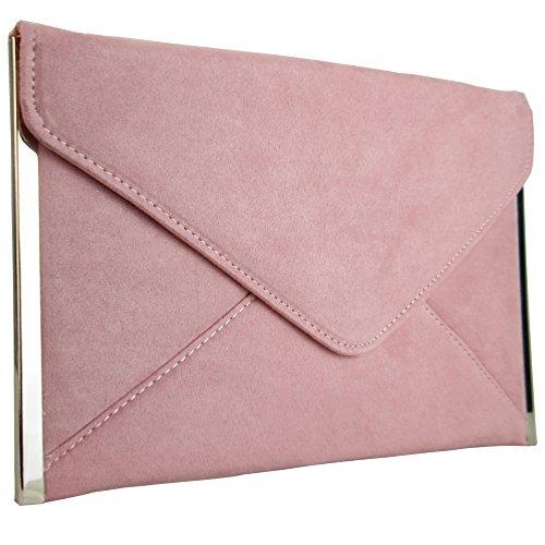 Clutch Faux Evening UK London Women Designer Blush Xardi New Bag Flat Suede Medium Ladies Envelope qpxwIPzZC