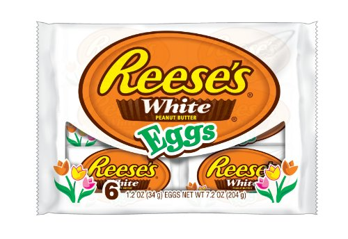 Reese's Easter White Peanut Butter Eggs, 6-Count, 7.2 oz Packages