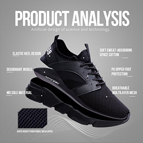 Belilent Womens Running Shoes - Lightweight Breathable Athletic Casual Shoes Fashion Sneakers Black/Black Sole-077 FkefIn9