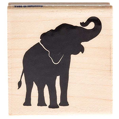 Elephant Silhouette Rubber StampNew by: CC