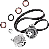SCITOO Fits 2001-2006 Volkswagen Golf GTI Beetle Jetta Audi A4 TT Quattro 1.8L DOHC L4 20 Valve Timing Belt Water Pump Kit