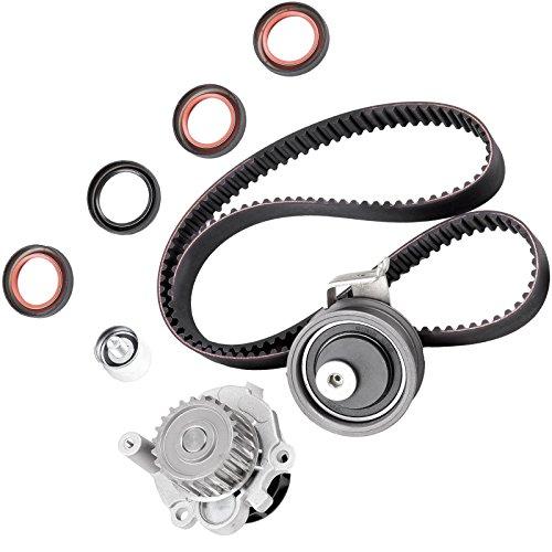 SCITOO Fits 2001-2006 Volkswagen Golf GTI Beetle Jetta Audi A4 TT Quattro 1.8L DOHC L4 20 Valve Timing Belt Water Pump Kit
