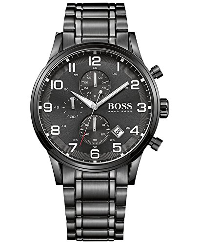 Hugo Boss 1513180 Aeroliner Mens Watch - Black Dial