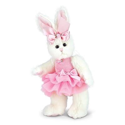 "Bearington Bunni Ballerina Pink Plush Stuffed Animal Bunny with Tutu, 10"": Toys & Games"