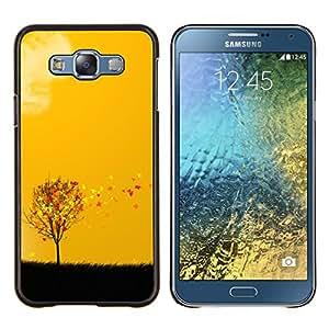 TECHCASE---Cubierta de la caja de protección para la piel dura ** Samsung Galaxy E7 E700 ** --Hermoso otoño las hojas del árbol