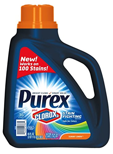Purex Plus Clorox2 Stain Fighting Enzymes Detergent, Sunny Linen, 65 Ounce