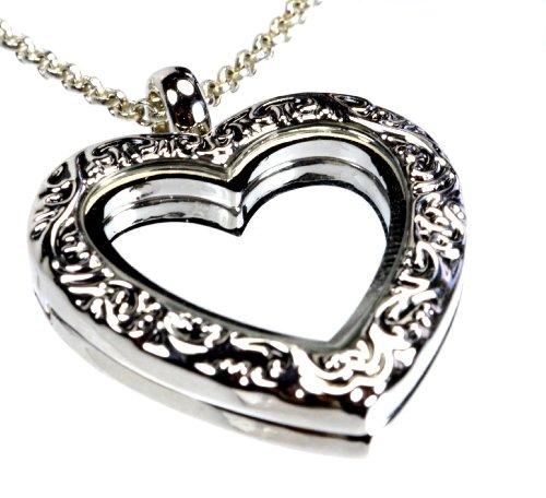 Open Filigree Heart Locket - 8