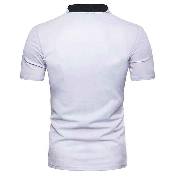 90982be9f4 Camisas Hombre Verano Color Tops Corta Manga Solapa Block Polo Básico Diario  Joven Casual Salir Slim Piqué Polo Camiseta  Amazon.es  Ropa y accesorios