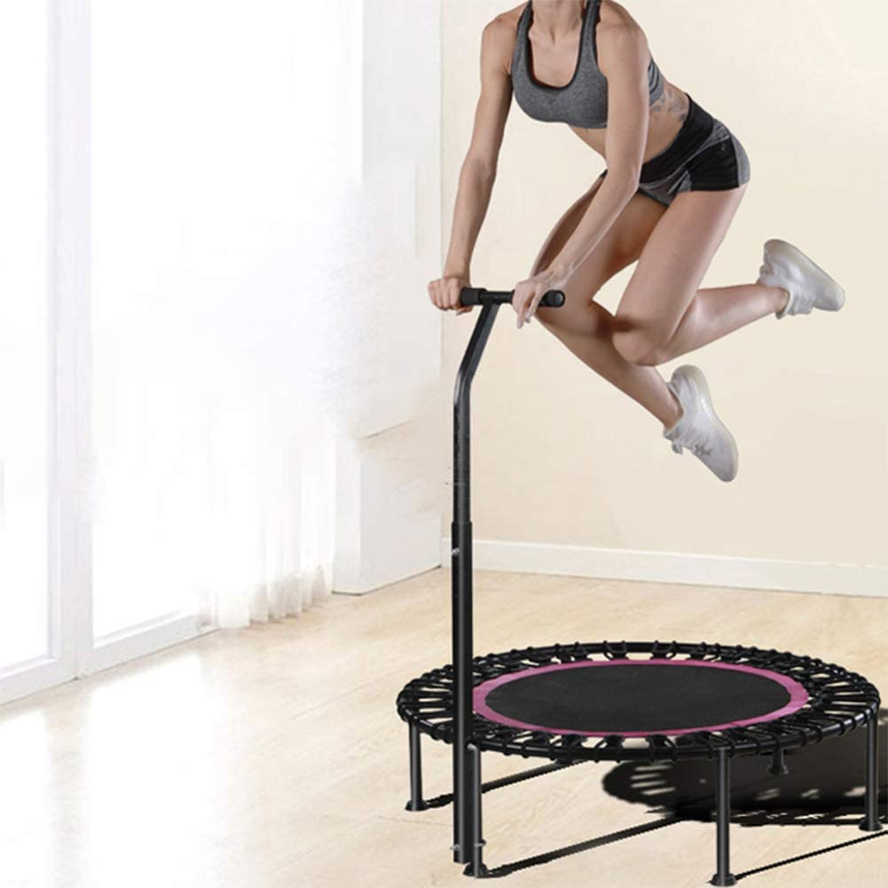 f/ür Aerobic Rebounds im Fitnessstudio,Green with armrests 40 Zoll Indoor Mini Fitness Trampolin mit Stabilem Griff Maximale Belastung 250 kg POEO Faltbares /Übungs Trampolin Extrem Leise