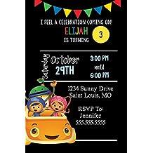Customized Team Umizoomi Birthday Invitation