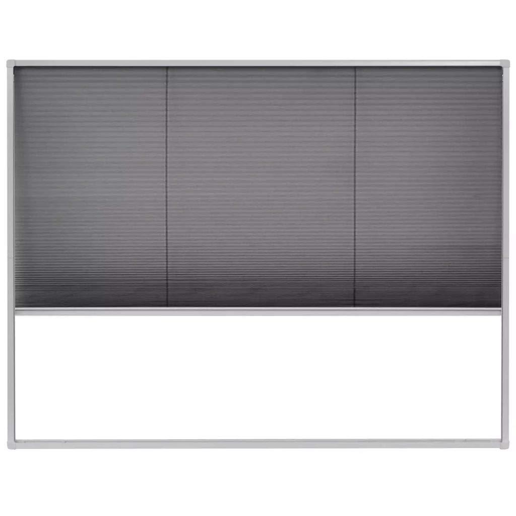 vidaXL Moustiquaire plissé e pour fenê tre Aluminium 130 x 100 cm