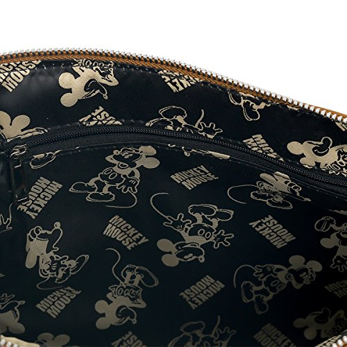 Punching Cross Pouch Disney Body Mini Mickey ililily Vintage Brown Bag Mouse tUwAFHxAfq