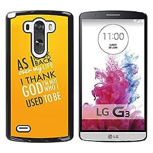 PC/Aluminum Funda Carcasa protectora para LG G3 D855 D850 D851 BIBLE I Thank God / JUSTGO PHONE PROTECTOR
