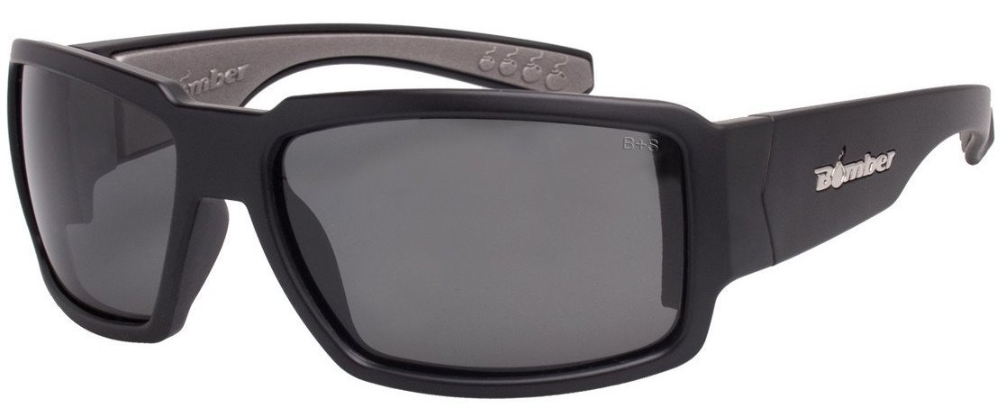 Bomber Sunglasses - Boogie Bomb Matte Black Frm / Smoke Pc Safety Lens / Gray Foam by Bomber (Image #1)
