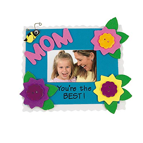 Set of 12 Mom Photo Frame Magnet Craft Kit - Crafts for Kids and Photo Crafts ()