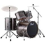 Pearl EXX725S/C 5-Piece Export New Fusion Drum Set with Hardware - Smokey Chrome