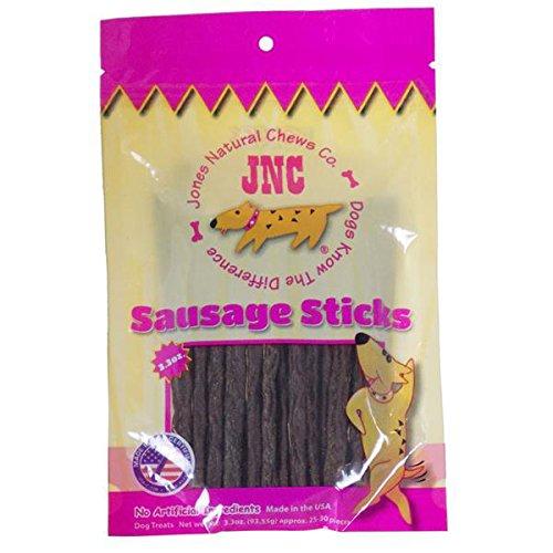 Image of Jones Natural Chews Sausage Sticks (2 of 2.2 oz. Bags) 32-40 Dog Treats