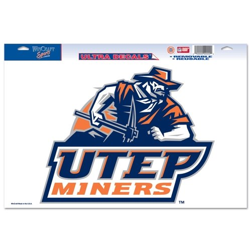 NCAA UTEP Miners 11'' x 17'' Logo Ultra Decal Window Cling