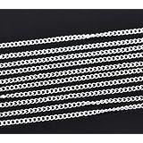 10 M chaîne à maillons argenté 3 x 2,2 mm