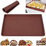 Silicone Bakeware Baking Dishes Pastry Bakeware Baking Tray Oven Rolling Kitchen Bakeware Mat Sheet (S)