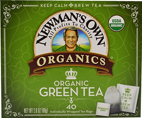 (Newman's Own Organics Green Tea, 40 Count (Pack of 6). Packaging May Vary. )