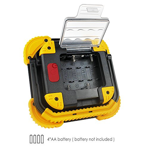 Moobibear BS-FL8W-4AA Work Light Portable Cob LED 10W 1000lm 2 Modes Emergency Battery Powered Cordless Floodlight, Heavy Duty Spotlight for Garage, Camping, Hunting, Fishing by Moobibear (Image #3)