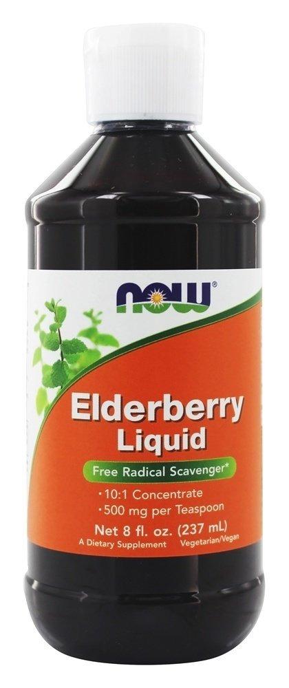 NOW Elderberry Liquid,8-Ounce