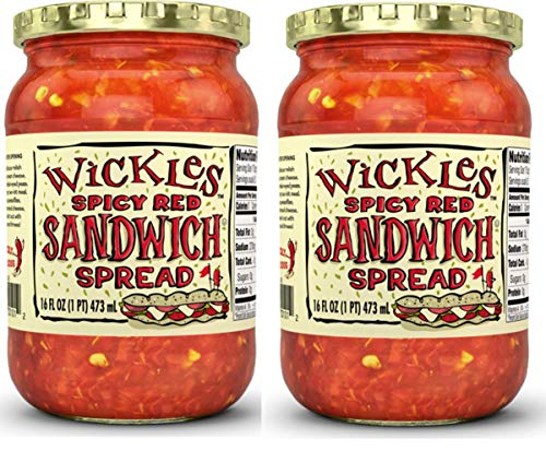 Wickles Spicy Red Sandwich Spread, 16 OZ (Pack of 2)