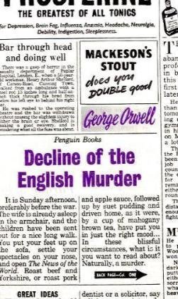 Book cover for Decline of the English Murder