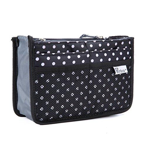 Periea Handbag Organizer - Chelsy (Small, Black/White)